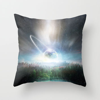 Death cup Throw Pillow by HappyMelvin
