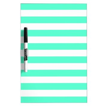 Mint and White Stripes - Dry Erase Board