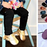 100% Genuine Leather Baby Moccasins