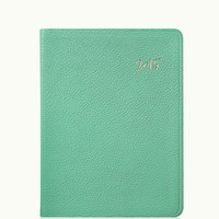GiGi New York 2015 Desk Diary Robin's Egg Blue French Goatskin
