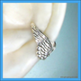 925. Tiny Angel wing earcuff - Sterling Silver ear cuff earring, cartilage non pierced jewelry for men and women 101112