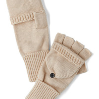 Sled by Example Convertible Gloves in Oatmeal | Mod Retro Vintage Gloves | ModCloth.com