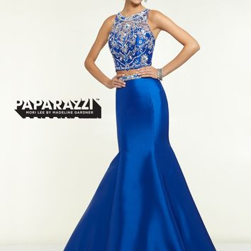 Paparazzi by Mori Lee 97126 Satin 2PC Mermaid Gown