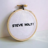 Arrested Development Steve Holt Embroidery Hoop Art by GraceyMay