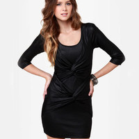Mink Pink Twister Sister Dress - Black Dress - $82.00