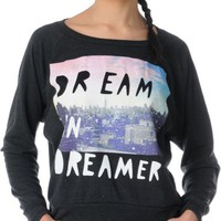 Glamour Kills Skyline Dreamer Raglan Crew Neck Top