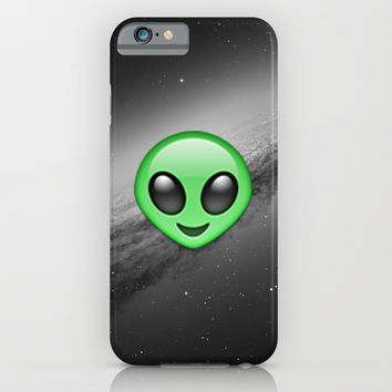 Alien Emoji iPhone & iPod Case by Nolan Dempsey