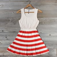 Starlit Meadow Dress in Red, Sweet Women&#x27;s Country Clothing