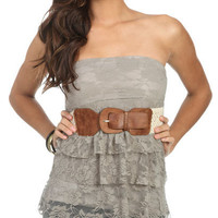 Tiered Lace Tube Top | Shop Tops at Wet Seal