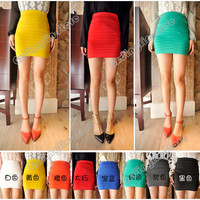 Women's Ladies Eight Colors Casual Jupe Bust Short A-line Skirt Mini S,M,L #399