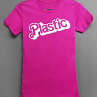 PINK Plastic Mean Girls Parody Barbie style - Womens Tshirt