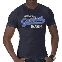 World&#x27;s Coolest Grandpa T-shirt from Zazzle.com