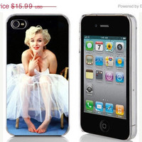 October Lucky 13 Sale iPhone 4 or 4s Hard Case Phone Cover - Marilyn Monroe