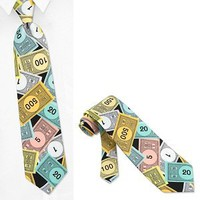 Monopoly Money Shirt Tie