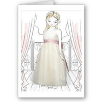 Flower Girl Thank You Card from Zazzle.com