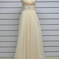 Custom make A-line Chiffon wedding dress ball gowns Bridesmaid Dress Evening Prom Dress