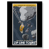 Asteroid belt Postcard from Zazzle.com