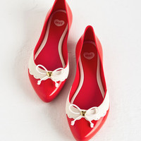 Mel Shoes Vintage Inspired Bright On Track Flat