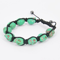 Skull Heads Friendship Bracelet - T.. on Luulla
