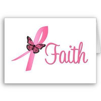 Faith Breast Cancer Awareness Greeting Cards from Zazzle.com