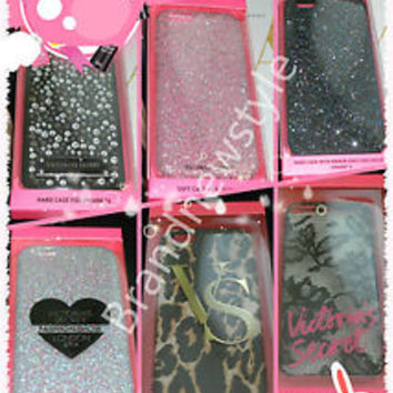 Victoria's Secret iPhone 6, 5/5S Hard/Soft case Crystal Bling Pink Silver Black