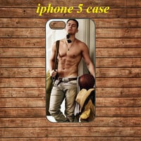 iphone 5 case,iphone 5 hard case,iphone 5 cover,iphone 5 hard cover---Channing Tatum shirtless,in plastic