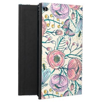 Vintage Rose Garden Floral Pattern iPad Air 2 Case