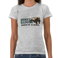 Honey Badger Tshirts from Zazzle.com