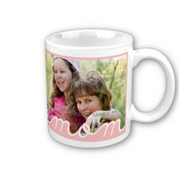 Pink Mother's Day Personalized  Mugs with Photo from Zazzle.com