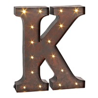 ''K'' LED Letter Wall Decor