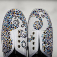 Custom Handpainted Triangle Canvas Shoes