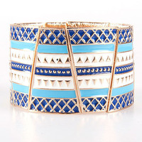 Enamel Tribal Elastic Braclet | Sexy Clothes Womens Sexy Dresses Sexy Clubwear Sexy Swimwear | Flirt Catalog