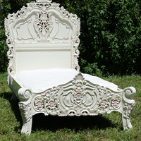 Ivory Rococo Twin Bed