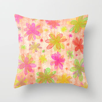 4 Seasons - Summer Throw Pillow by Alice Gosling