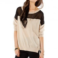 Mayhew Contrast Sweater - ShopSosie.com