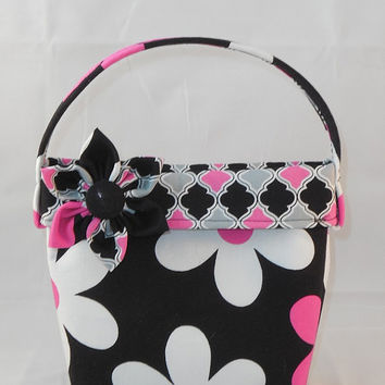 Gorgeous Pink and Black Floral Little Girls' Purse