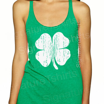 Shamrock. Shamrock Tank. Shamrock Shirt. Shamrock Tee. St. Patrick's Day. Holiday Tanks. Holiday Shirts. St. Patrick's Day Tank Top. Green.