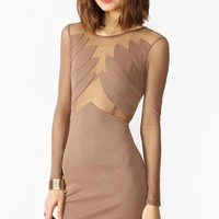 Winged Mesh Dress