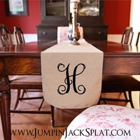 Monogrammed Table Runners!! 3 Sizes!