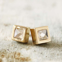 Gold &amp; Ice Earrings, Sweet Affordable Jewelry