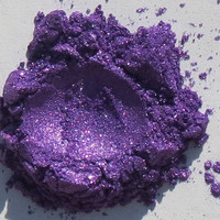 "Eye shadow ""Bright Violet"" natural mineral make up"