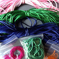 Rattail satin cord 2mm french knitting kumihimo macrame orange fuchsia green pink blue emerald green fibre jewellery cord celtic knotting
