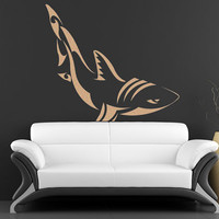 Tribal Shark Vinyl Wall Decal Sticker A0213