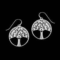 Fine Pewter Arbor Vitae Wire Drop Earrings by Lovell Designs