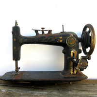 Antique Sewing Machine- Distressed Art Deco- Montgomery Ward