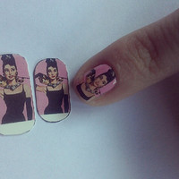 Breakfast at Tiffany&#x27;s Holly Golightly Nail Decals