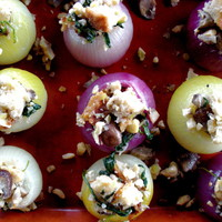 Two Blue Lemons: Roasted Stuffed Onions