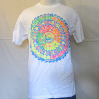 Vintage Amazing 80s HAWAII NEON GRAPHIC Surf Skate Hanes Bright Unisex Beach Cotton Retro T-Shirt