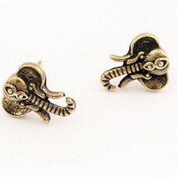 Elephant Vintage Style Earrings (Antique Gold) | LilyFair Jewelry