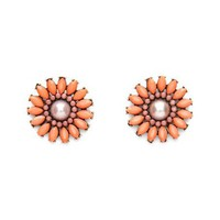 Peach Blossom Stud Earrings: Charlotte Russe